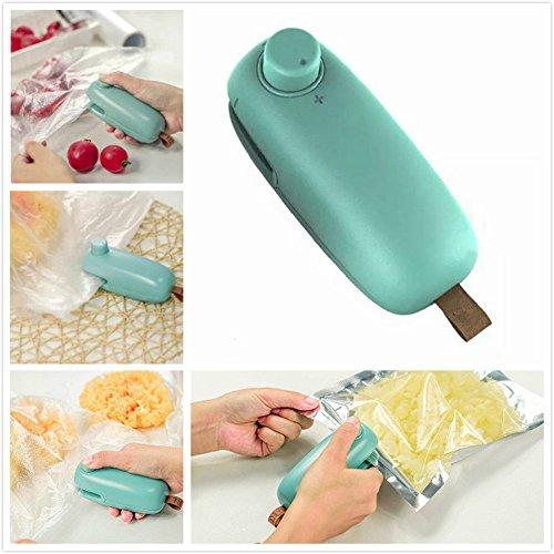 Bag Heat Sealer ,Upintek New Handheld Bags Heat Sealer Cutter Machine for Plastic Food Potato Chip Saver or Fresh Bag Mini Portable Sealer(Battery Not Included) (Plastic Bag Microwave)