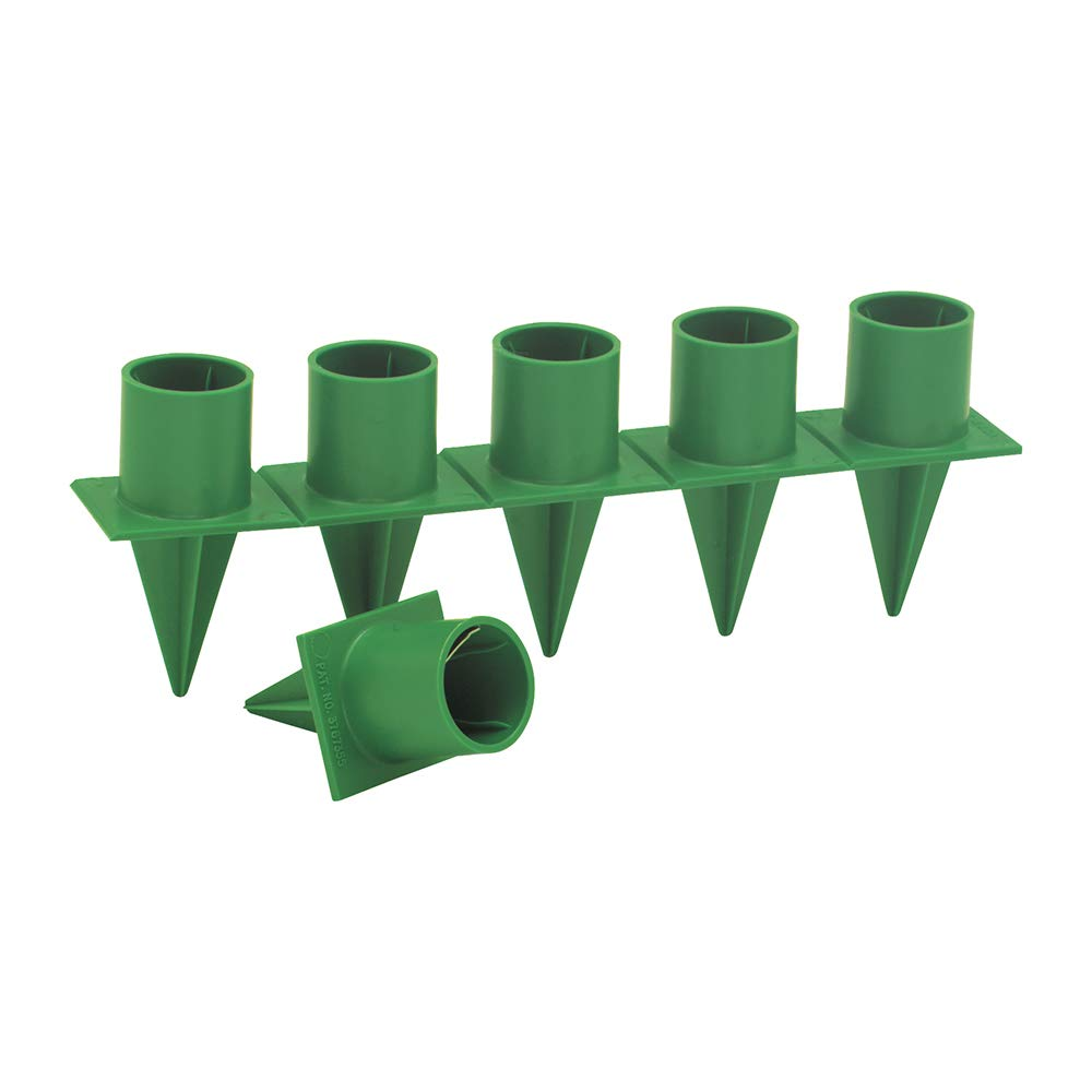 Taper Candle Holder Standard 1'' Green 36 Pieces Per Package Candleholder by Floral Supply