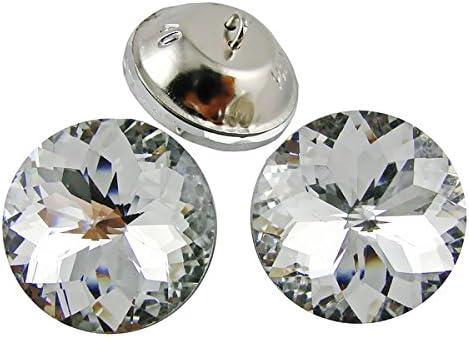 20pcs Diamond Bright Crystal Beautiful Upholstery Sofa Decoration Sew Buttons