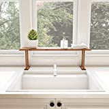 kitchen countertop options Lavish Home Bamboo Sink Shelf-Countertop Organizer for Kitchen, Bathroom Bedroom, Office-Space Saving Storage for Soap, Sponges, Cleaners and More