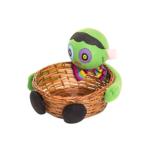 Halloween Gift Baskets Doinshop Cute Doll Candy Fruit Party Storage Holder (Green Popcorn Halloween)
