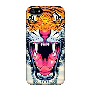 Hot Fashion CbV1527BqYX Design Cases Covers For Samsung Galaxy S6 Protective Cases (paint Tiger)