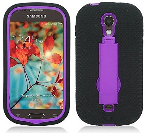 los angeles 10e79 aaa08 NP CITY Phone Case ARMOR Cover For Samsung Galaxy Light T399 / SGH-T399  (sBLACK/PURPLE Arm)