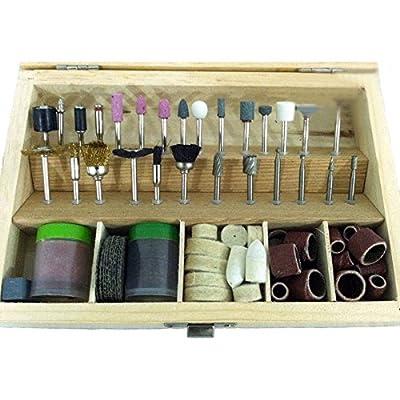 "Muktat_ 100Piece Rotary Tool Accessories Bits Set 1/8"" Shank For Dremel Jeweler Gunsmith"