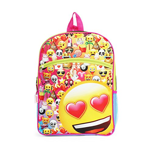 Emoji Yellow16 inch Backpack Back to School Essentials Set for Girls by FAB Starpoint (Image #1)