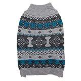 Fashion Pet Nordic Knit Dog Sweater - Gray (16 Pack)