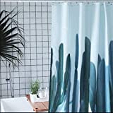 GouuoHi Home Shower Curtain 1pcs Polyester Fabric Waterproof Shower Curtain Environmental Bathroom Amenities Soild Color Blue 180cm 200cm