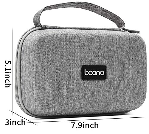 BOONA Laptop AC Adapter Charger Cable Storage Bag with Shockproof Waterproof EVA Protection Bag Compatible for Power Adapter, Magic Mouse, Magsafe Power Adapter, Magnetic Charging Cable - Large, Grey