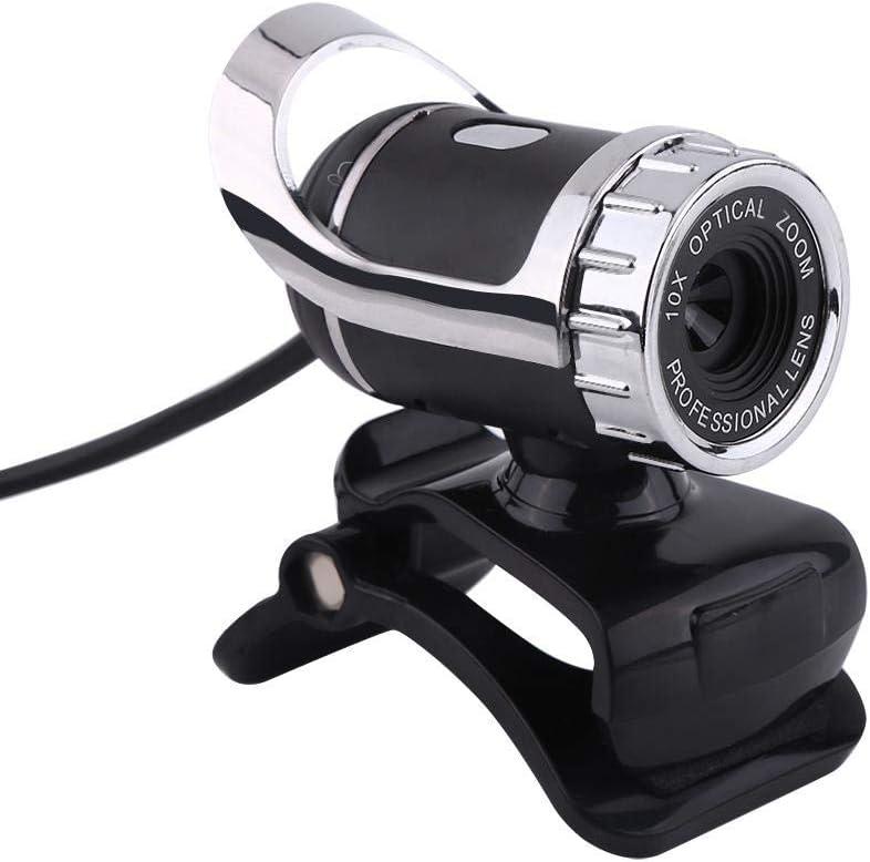 USB2.0 12M Pixels Clip-on Webcam Web Camera HD 360/° Rotating Stand Built-in Mic for Recording//Live Streaming PC Laptop Desktop Web Camera USB Webcam Silver
