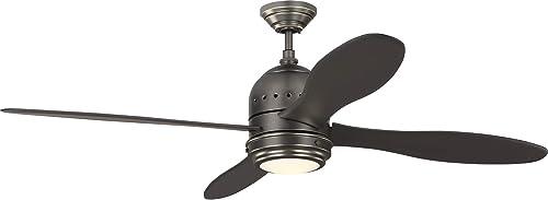Monte Carlo 4TSR56BNZD Metrograph Mid-Century 56″ Ceiling Fan