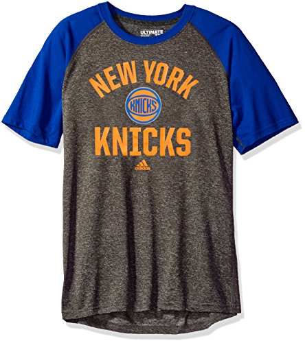 fan products of NBA New York Knicks Adult Men Dazzler Tactical Climate Ultimate S/Tee, Medium, Gray