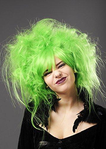 [Deluxe Womens Neon Green Zombie Wig] (Neon Green Wigs)