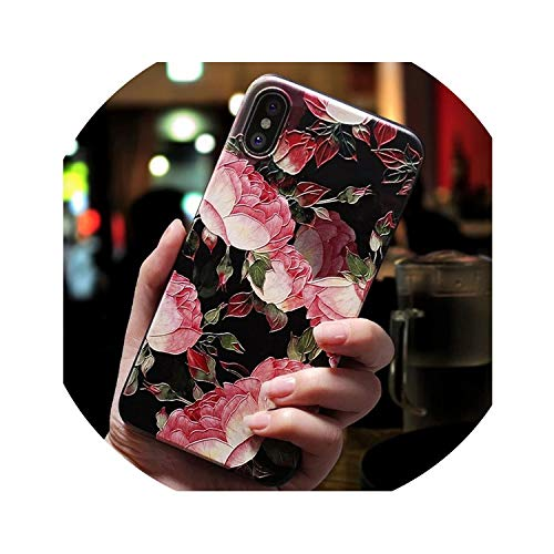 Retro Flower Phone Case for iPhone 6 6s 7 Plus 8 Plus X Case Silicone Fashion Women Soft Protection Cover for iPhone 8 7 Case,Style 6,for iPhone 6 6S