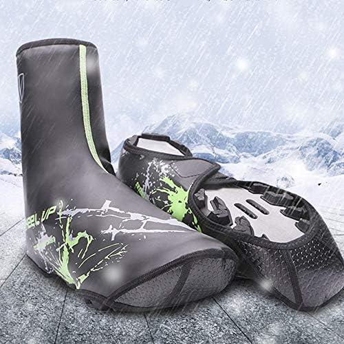 防寒 シューズカバー 防風性と防水靴カバー用屋外乗馬用品肥厚乗馬靴カバー 携帯便利 シューズカバー (Color : Green, Size : L (39-44 yards))
