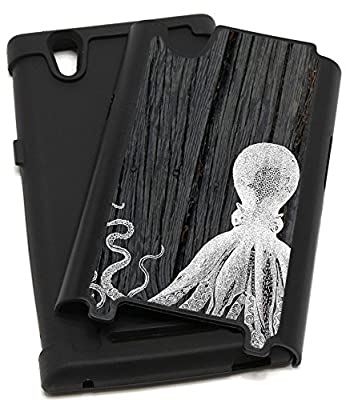 CorpCase ZTE Zmax Z970 Case, ZTE Z970 Case - Octopus On Dark Wood / Hybrid Unique Case With Great Protection from CorpCase