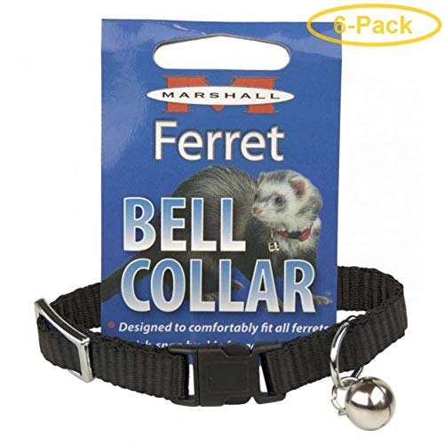 Marshall Ferret Bell Collar - Black 1 Count - Pack of 6