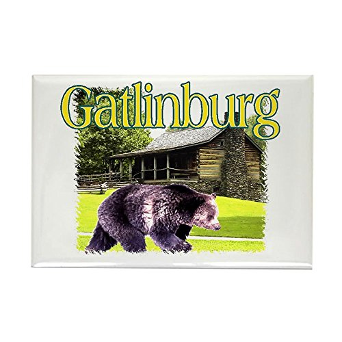 "CafePress Gatlinburg Bear Rectangle Magnet Rectangle Magnet, 2""x3"" Refrigerator Magnet"