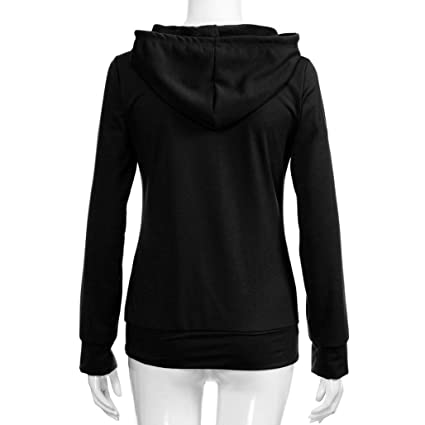 Amazon.com: Women Long Sleeve Hoodies Pocket Sweatshirt Long Sleeve O-Neck Solid Autumn Winter Pullover Tops Blouse: Arts, Crafts & Sewing