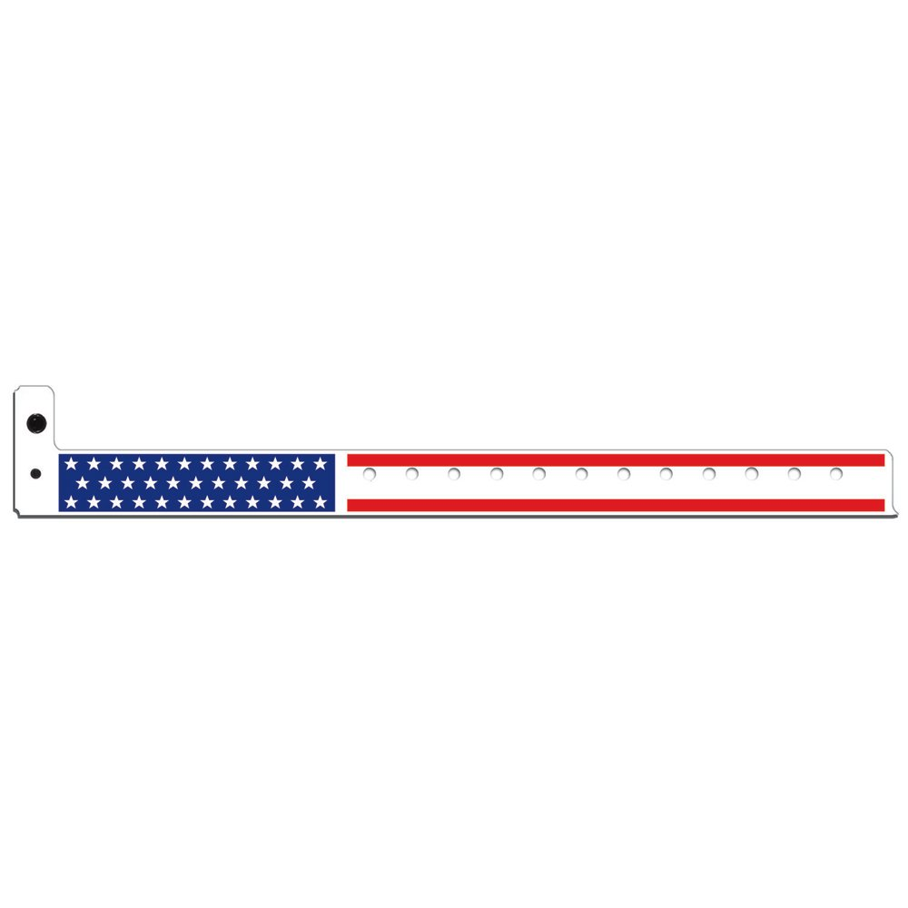 3/4 Inch Plastic Wristbands - Stars & Stripes - Patriotic Wristbands - White Red Blue Color - 500 Units Per Box by DCP Products (Image #1)