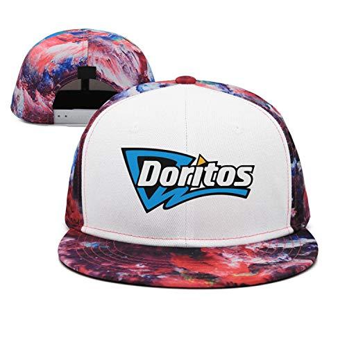 AINIJIAJ Men/Women Print Vintage Doritos-Corn-Flake-Logo- Fitted Flat Brim Snapback Cap