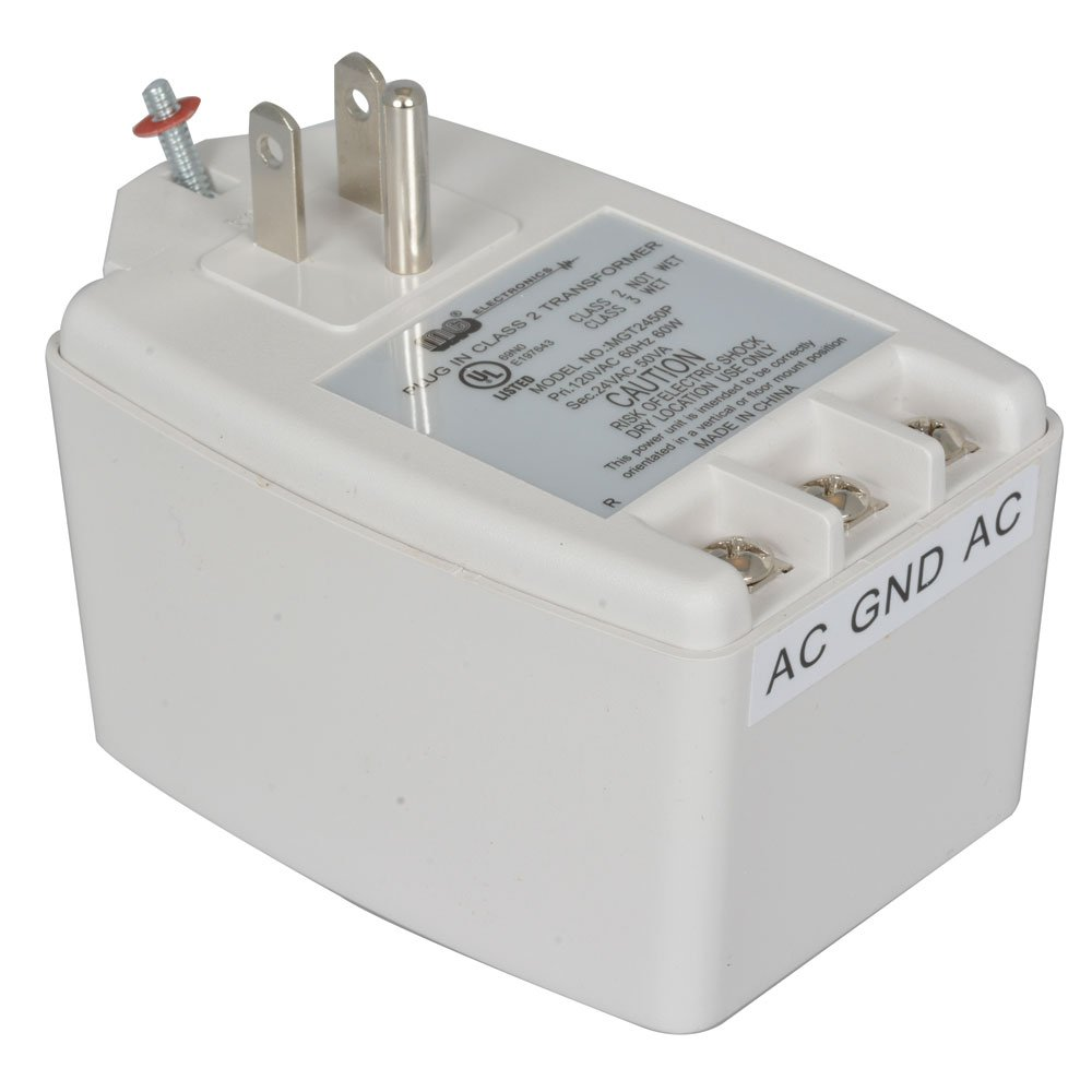 "Jameco Reliapro MGT2450P Wall Transformer, AC to AC Screw Terminal, 50W, 24V, 2.1A, 3.2"" L x 2.2"" W x 1.9"" H"