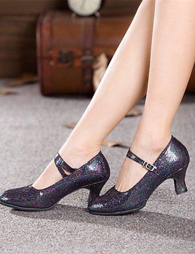 danse ShangYi Noir de Red Paillette Chaussures Large personnalisable Bleu Moderne Gris Rose Non Talon gwqwEt