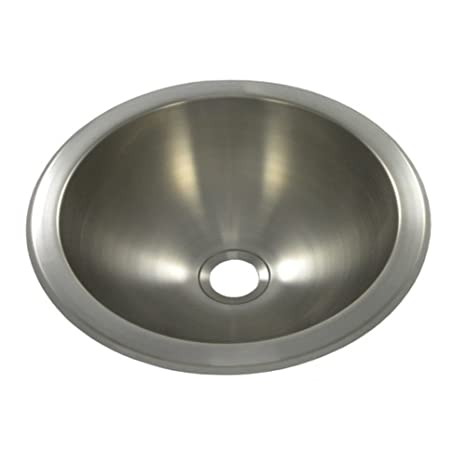 10 X 10 Round Bar Sink Undermount Finish Brushed Stainless