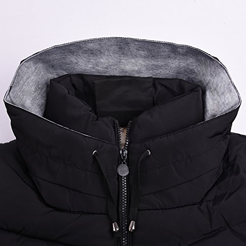 cálido la la Chaqueta Negro Cubre Abrigo iBaste Mujer Invierno de Algodón de del Capa para delgada Abrigo xSTTUYFw