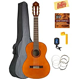 Yamaha CGS102A 1/2-Size Classical Guitar Bundle with Gig Bag, Tuner, Strings, String Winder, Austin Bazaar Instructional…