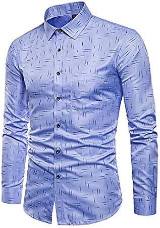 IYFBXl Camisa de algodón Talla Grande para Hombre - Tribal/Manga Larga, Azul Claro, 38: Amazon.es: Deportes y aire libre