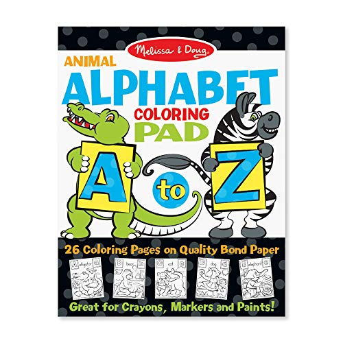 Coloring Pages Boys (Melissa & Doug 26-Page Animal Alphabet Coloring 11 x 14 Pad,)
