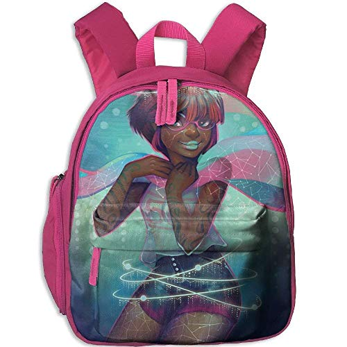 Kindergarten Boys Girls Backpack Black Art Woman Africa School Bag -