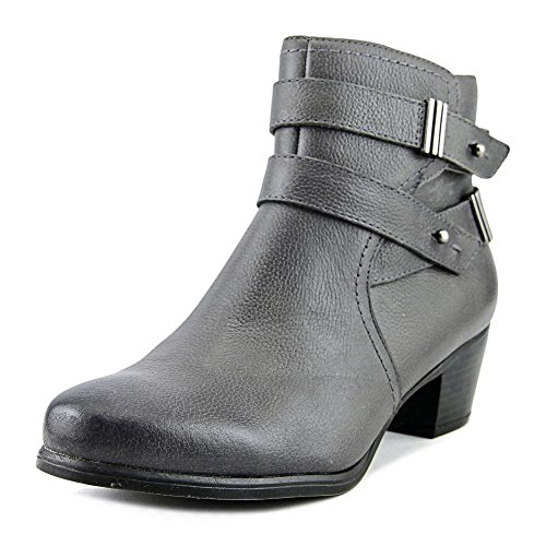 Naturalizer Womens Kepler Leather Closed Toe Ankle Fashion Boots Grey Leather