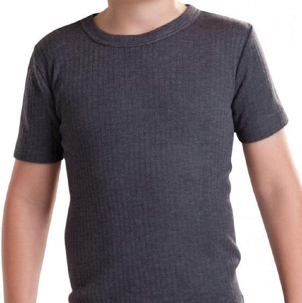 Charcoal Long John, 9-11 Years 2X Unisex Children Kids Thermal Underwear Long Sleeve T-Shirt Top Long John Full Sleeve Warm Vest Set