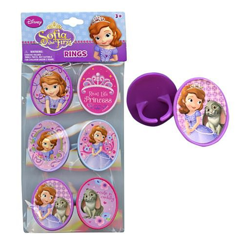 Disney Princess Sofia the First Ring Cupcake Topper (Set of 6)