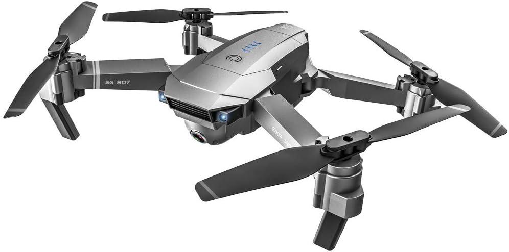 Bascar Dron UAV SG907 2,4 GHz 4 K GPS dron con cámara dual 1080P HD gran angular anti vibración WiFi 5G FPV RC Quadrocopter plegable profesional GPS Follow Me (A)