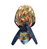 American Legends USA Flag Bandana Headwrap Headscarf Adjustable Cap Hat Navy
