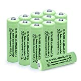 QBLPOWER AA Solar Light Batteries NIMH 600mAh 1.2V Double A Rechargeable for Garden Lawn Landscaping Solar Lights Remotes Mice(12Pcs)