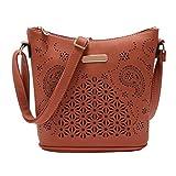 Ladies Cross Body Shoulder Bag Handbags Large Capacity Bags Coffee for Women TOPUNDER Q