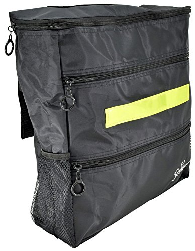 Secure WBP-1B Wheelchair Storage Backpack Bag with Multiple Pockets and Nighttime Safety Reflector, Black (13'' x 12.5''x 3'') by Secure (Image #6)
