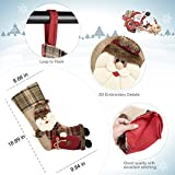 """3 Pcs 18"""" Christmas Stockings Large Size with 3D Santa/Snowman/Reindeer, Xmas Stocking For Gifts Stuffers & Christmas Party Decoration"""
