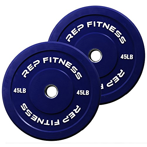 Rep-Color-Bumper-Plates-for-CrossFit-and-Weightlifting-1-3-yr-Warranty-No-Odor