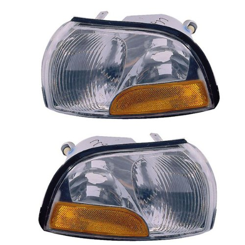 Mercury Villager Turn Signal - 1999-2000 Nissan Quest & Mercury Villager Park Corner Light Turn Signal Marker Lamp Pair Set Right Passenger AND Left Driver Side (00 99)