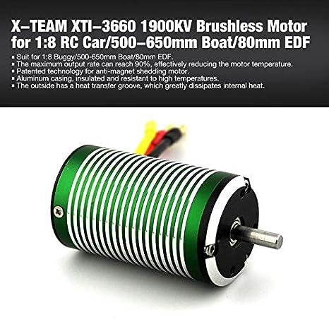 Argoba X-TEAM XTI-3660 1900KV sin escobillas sin sensores 5 mm Motor de