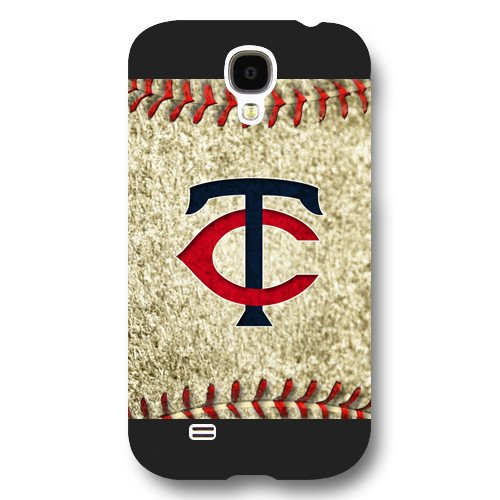 Galaxy S4 Case, Onelee(TM) MLB Minnesota Twins Samsung Galaxy S4 Case [Black Frosted Hardshell]
