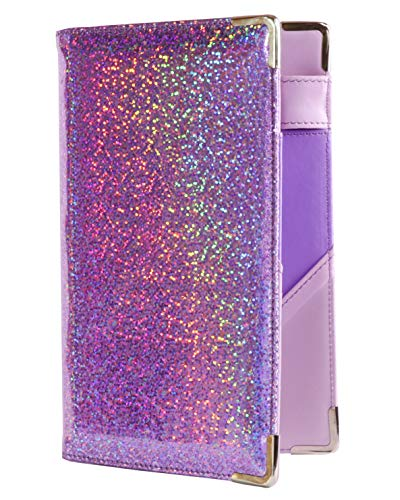 Of Course Holographic Glitter Server Book for Waitress and Waiter Zipper Pocket 5x8 Organizer Wallet | 10 Money Pockets | Original 2 Tone Interior | Cute Fits Aprons (Pixie Dust)