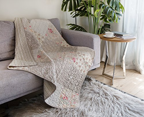 SLPR Walk in the Cotswolds Cotton Real Patchwork Quilted Throw (50