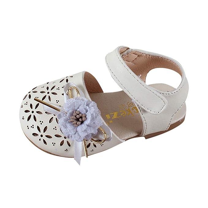 ABsolute Sandalias Zapatos Bebe niña Verano Perlas para bebés Infantiles Sandalias Hallow del corazón de la