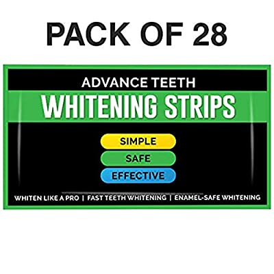 Teeth Whitening Strips - Kit of 28 | Professional Dental Treatment | Advanced At Home Product for A Brighter, Whiter, More Brilliant Smile | Tooth Enamel Safe Non Slip Adhesive | Remove Stains Quickly