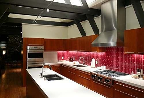 Glossy Hot Red Subway Glass Mosaic Tiles for Bathroom and Kitchen Walls Kitchen Backsplashes By Vogue Tile